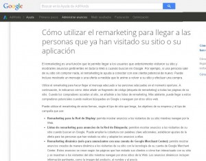 El remarketing en adwords